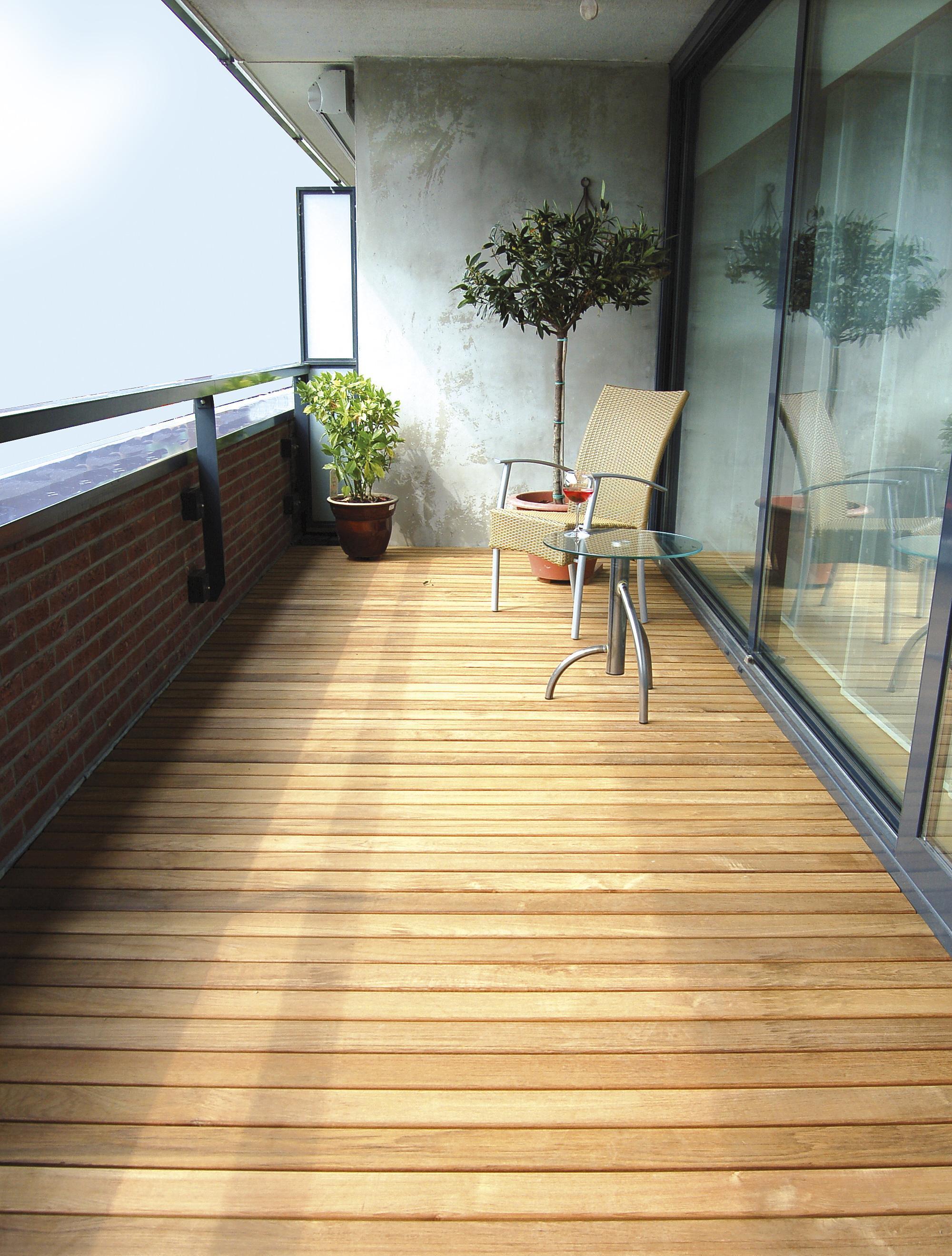 Hardhout terras buitenvloer - Dekzeil terras balkon ...